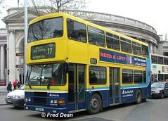 Dublin Bus RA198 (95D198). (Fred Dean Jnr) Tags: april2005 dublin dublinbus busathacliath dublinbusyellowbluelivery volvo olympian alexander r dublinbusroute77 ra198 95d198 collegegreendublin rend