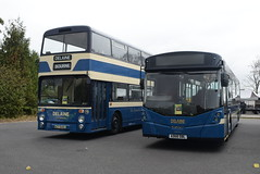 DB 73 and 164 @ Showbus 2018 - Donington Park (ianjpoole) Tags: delaine buses leyland atlantean northern counties ct540l 73 volvo b8rle wright eclipse urban 3 ad68dbl 164 donington park for showbus