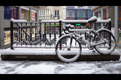 [explore] Old Town of Bilbao (Iker Merodio | Photography) Tags: bike snow elur elurra old town alde zaharra bilbao bizkaia biscay basque country euskadi ricoh gr ii 2 white