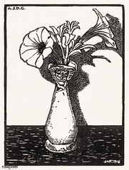 Vase with Flowers (1916) by Julie de Graag (1877-1924). Original from The Rijksmuseum . Digitally enhanced by rawpixel. (Free Public Domain Illustrations by rawpixel) Tags: antique art artwork drawing floral flowers handdrawn illustrated illustration illustrator juliedegraag old pdrijks pot publicdomain rijksmuseum sketch stamp vase vintage woodcut