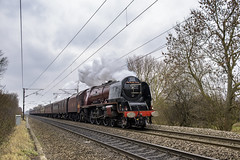 Cold and Steam (4486Merlin) Tags: duchessofsutherland semi 6233 ecml england europe exlms lms8pduchess railways southyorkshire steam transport unitedkingdom doncaster gbr rytc wcrc christmaswhiterose arksey