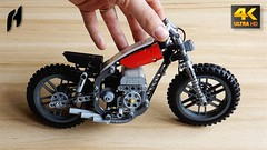 How to Build Lego Technic Scrambler (MOC - 4K) (hajdekr) Tags: lego buildingblocks assemblyinstructions guide buildingguide tuto tutorial tip help tips stepbystep inspiration design manual moc myowncreation instruction instructions toy model buildingbricks bricks brick builder buildingtoy howto technic motorbike moto bike motorcycle scrambler 3d printer prusa caferacers racer racers racing sport supersport sportster discbrake flexible rubber axle connector brakedisk efferman hose 45590 27965
