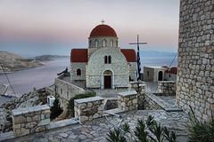 Kalymnos (denismartin) Tags: denismartin greekisland aegeansea mediterraneansea greece sea kalymnos pothia churchesandhousesofworship monastery sun sky sunset sunsetlight aggiossavvas