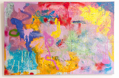 DSC_1043, 100cm x 150cm, Oils & Acrylics on Canvas, Summer  2018 (DCleggArt) Tags: painting art fine chaos colour process catharsis summer transition pastel fineart paint