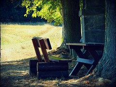 Freie Platzwahl | Free Seating (André-DD) Tags: wanderung hike urlaub vacation bench bank table tisch wald forest franken oberfranken bayern bavaria
