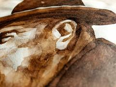 My watercolor portrait of René Magritte (2008)  ------ Mon portrait à l'aquarelle de René Magritte (2008)  #art #magritte #watercolor #originalart #originaldrawing #artwork #artstudy #aquarelle #avendre #artforsale #ecoline #drawing #artiste #artist #sepi (Ben Heine) Tags: originaldrawing art avendre artist originalart artiste artwork magritte portrait benheinart creative ecoline sepia watercolor artstudy painting coolandaffordableoriginalsforsale design drawing renemagritte artforsale sketch aquarelle
