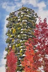 Milano in autunno (Fil.ippo) Tags: milano milan boscoverticale verticalforest autumn autunno tree colors sky clouds architecture filippobianchi filippo d610 nikon alberi gaeaulenti cityscape panorama