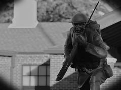 Solider, Cantigny Park. 5 (EOS) (Mega-Magpie) Tags: canon eos 60d outdoors statue soldier cantigny park wheaton dupage il illinois usa america bw black white mono monochrome veterans day tribute