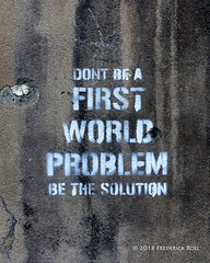 First World Problem (© Freddie) Tags: london se1 borough lbsouthwark londonbridge findlaterscorner londonbridgestation boroughhighstreet networkrail graffiti fjroll ©freddie