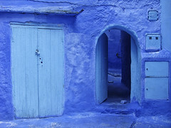 Chefchaouen (RobertLx) Tags: blue city morocco africa maghreb chefchaouen architecture bluepaint nofilter wall street building door