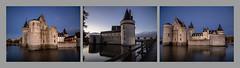 Triptyque - Chateau de Sully-sur-Loire (Daniel_Hache) Tags: nuittombante sullysurloire loire nightfall castle chateau loiret france fr