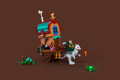 Drunk Driving (roΙΙi) Tags: castle cart medieval lego afol moc