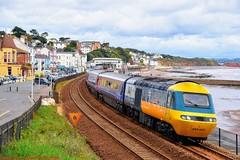 43002 @ Dawlish (A J transport) Tags: 43002 intercity class43 diesel mtu16v4000 sirkennethgrange hst 125 pushpull railway trains br firstgreatwestern england devon heritage