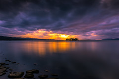 sunset 3914 (junjiaoyama) Tags: japan sunset sky light cloud weather landscape orange blue contrast color bright lake island water nature autumn fall calm dusk serene reflection