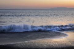 a gentle evening beach (cate♪) Tags: beach evening waves calm sea twilight