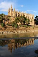 Espagne - Baléares - Cathédrale de Palma de Majorque (mda'skaly) Tags: baléares palmademajorque spain reflets reflections urban eglise monuments cathédrales