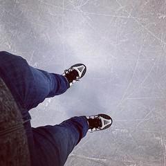 Ze zeggen dat schaatsen en fietsen goed op elkaar aansluiten... Ik ben duidelijk beter in het een dan het ander. 😜