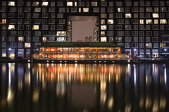 The Floating Lotus (ibn_sina001) Tags: london isle dogs millwill inner docks long exposure night lights reflections canon eos 6d 2470mm f4 usm l formatt hitech floating lotus restuarant yourbestoftoday