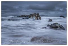 """Pans Rock Bridge"" (W.G. Photography) Tags: ballycastle pan rocks bridge countyantrim northernireland uk high tide longexposure stormy day"