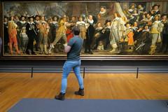 A Man Alone (YIP2) Tags: rijksmuseum amsterdam militiacompany schuttersstuk bicker people watching vanderhelst painting goldenage museum art