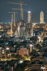 Sagrada Familia (allprex) Tags: barcelona spain españa canon arquitectura architecture tamron allprex street city ciudad art urban 5d cityscape noche night light sagrada familia carretera rascacielos edificio