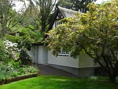 New Plymouth. The gardens of Tupare House built in 1932. (denisbin) Tags: newplymouth taranaki mounttaranaki volcano snow garden rhododendron driveway tupare tuparehouse tuparegardens