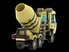 6682_Cement_Mixer_R04 (N2Brick) Tags: cement mixe 6682 lego set