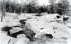 Escanaba River --Explored (yooperann) Tags: marquette county upper peninsula michigan ice rocks monochrome blackandwhite