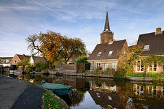 Autumn in Abcoude (Julysha) Tags: abcoude river angstel 2012 thenetherlands d800e nikkor247028 tiffenhtndgrad village acr reflection boats church
