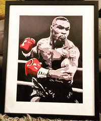Prints of my Tyson oil painting... (GP1805) Tags: art artist artwork draw drawing oils paintings prints tyson derwent fabercastell winsorandnewton dalerrowney boxing boxer