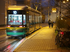 2018 Bike 180: Day 247, November 8 (olmofin) Tags: 2018bike180 finland bicycle polkupyörä street katu ratikka tram streetcar spora spära raitiovaunu pikkuhuopalahti helsinki mzuiko 45mm f18