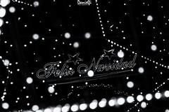 Feliz Navidad (danielfi) Tags: feliz navidad christmas blanco negro black white byn bw nieve snow cielo sky calle street streetphotography lights luces