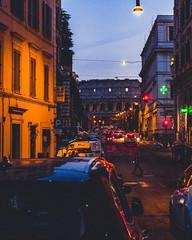 rm (Nico Selis) Tags: rome architecture street life night shot photography car city roma sky blue light orange mood