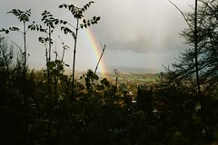 Malvern Hills Worcestershire (*Photography by Mike*) Tags: rollei 35t portra 400 rainbow landscape rain