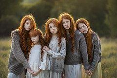 The Red head Brigade (But Natural Photography) Tags: scarf long hair bangs curly dress redhead wavy brunette sweater denim jacket blond pretty ginger head nikon nikond800 nikonian photography d800 85mm outdoor natural light white