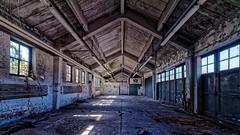 Verlassen . . . (norbert.r) Tags: architecture architektur building abandoned vanishingpoint empty flickrchallengegroup gebäude hdr leere lostplace hanaupioneerkaserne loneliness