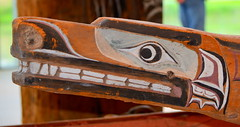 WEST COAST NATIVE ART, CARVED CEDAR WOOD, UNIVERSITY UBC, VANCOUVER. BC. (vermillion$baby) Tags: nativeart art carvng color firstnations red westcoast wood artsculpture native pacificnorthwest artofnorthamerica artofnativenorthamerica museum carving sculpture woodcarving museums artofthenative nativeamerican indian gallery vivid aborigine
