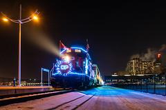 CP Holiday Train (shawn_christie1970) Tags: spud stpaul minnesota winter train railroad nightshot christmas holidays cpholidaytrain cpht canadianpacificrailroad cp2246 rebuilt emd gp20ceco st paul union depot passenger 1stbank