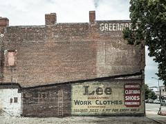 Lee Ghost Sign (makleen) Tags: ghostsign sign advertisement advertising vintageadvertising illinois lee champaign brickbuilding brick brickad fadedad fadingad