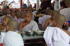 Buddhist monks at Maha Ganayon Kuang monastery in Amarapura, Mandalay region (1) (Prof. Mortel) Tags: myanmar burma amarapura buddhist monks