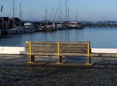 bench (helena.e) Tags: helenae husbil rv motorhome älsa bänk bench water vatten båt boat varberg hamn harbour