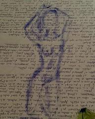 Aprovechando tinta de boli roto, marcamos silueta con tinta y papel, para después bosquejarlo un poco. . Bocetos... . #draw  #artlovers #artdaily #artist  #artoftheday #artofinstagram #drawing  #painting  #ballpen  #artwork  #instaart  #fotografia #photog (egc2607) Tags: sketch ink sexy tinta artwork art tattoo fitnessgirl artdaily artphoto artlovers artoftheday photography ballpen artist painter painting nudeart sensualidad instaart drawing hairstyle zaragoza fotografia beautifulgirl sensuality artofinstagram draw