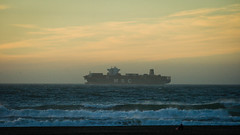 To The Sea (AAcerbo) Tags: oceanbeach pacificocean sanfrancisco california shipping ship boat vessel horizon sunset light waves water