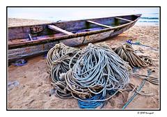 ropes (harrypwt) Tags: harrypwt africa afrika fujix70 x70 borders framed paintinglike sand boat sea coastal beach ropes cotounou benin