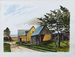 Village de la Cour au Bourcier à Acigné en 1982