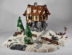 Winter Cottage (dzambito42) Tags: lego winter cottage cobblestone