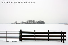 Merry Christmas (YIP2) Tags: christmas merrychristmas snow fence cold winter landscape less minimal