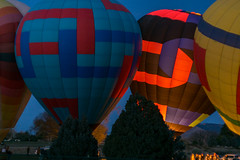 Balloon Glow (geophotocacher) Tags: aircraft albuquerque balloons christmas holidays mdrokkorx50f14 nm newmexico bluehour geophotocacher hotairbaloons