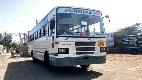 Gsrtc Pavagadh GJ-18-Z 4914 New Brand Deluxe Express Bus