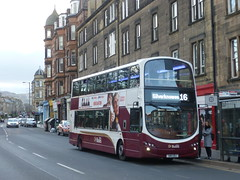 Lothian 359 northbound on Morningside Road, Edinburgh. (calderwoodroy) Tags: eclipsegemini2 wrightbus b9tl volvo sn11ebj 359 service16 edinburghtransport transportforedinburgh lothianbuses lothianbusescentenary tenements doubledecker bus morningsidestation morningsideroad morningside edinburgh scotland